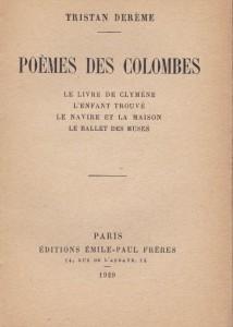 1929 - Poèmes des colombes