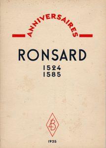 Couverture de 1935-Ronsard par Tristan Derème