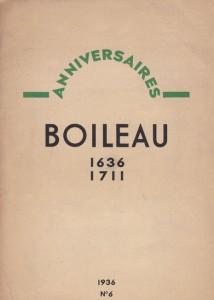 1936 - Boileau par Tristan Derème dans le n°6 de la revue Anniversaires