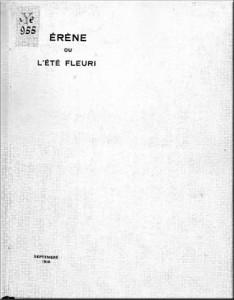 couverture Érène ou l'été fleuri