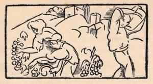1927 -Guirlande pour deux vers de Gérard de Nerval, dessin de Jos Julien