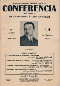 1929 - La rose et le laurier (conférence), Béatrix Dussane et Tristan Derème