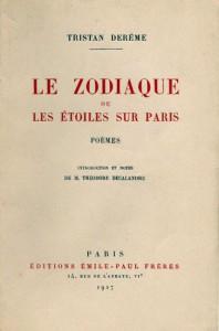 Le zodiaque ou les étoiles de Paris