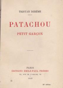 1929 - Patachou petit garçon