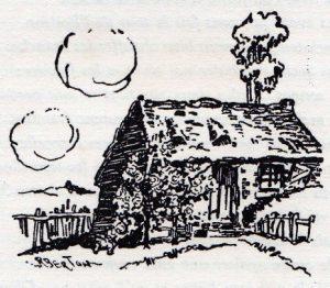 1930-Le seuil fleuri dessin de R. Berton