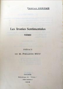 1909 - les ironies sentimentales