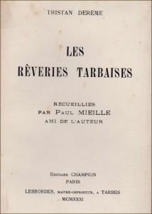 1931 - Les rêveries tarbaises