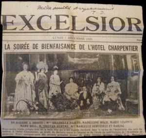 Soirée de bienfaisance du 7 décembre 1925