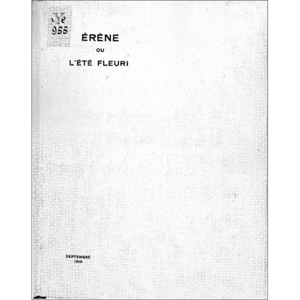 1910 Érène ou l'été fleuri