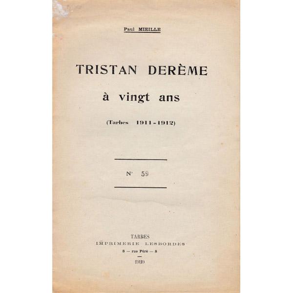 Tristan Derème à 20 ans par Paul Mieille