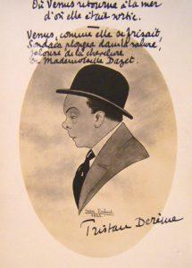 1922 - Tristan Derème par Jean Lafont avec autographe à Louise Dazet non daté ( archives départementales du 65)