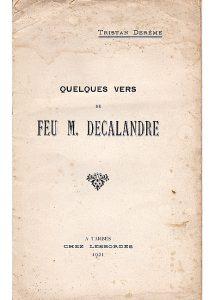 Quelques vers de feu M. Decalandre