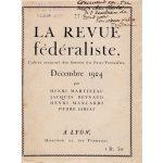La revue fédéraliste n°77